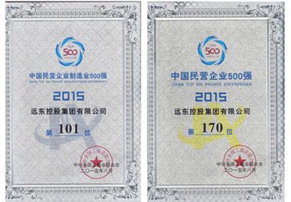 CHINA TOP 500 PRIVATE ENTERPRISES