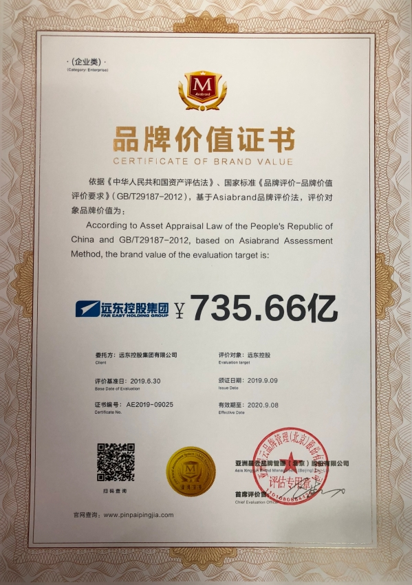 certificate of brand value  2019
