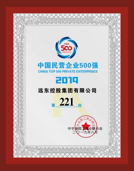 2019年  中国民营企业500强
